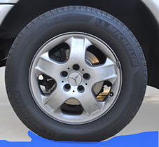 Often roadway sags can cause an improperly inflated tire to hydroplane.