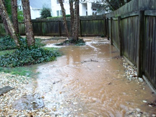 Other common drainage problems can result from storm water.