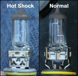 A closer examination can determine if the cause of the traffic accident was as a result of hot shock as shown here.