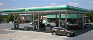 We engineered this B P Gas station project, too.