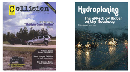 Free article for our readers, Titled Hydroplaning: The Effect of Water on the Roadway