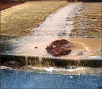 Storm water can lead to erosion during construction.