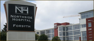 Completed Land Survy project by Atlanta Engineering Services : Northside Hospital in Forsyth County, GA